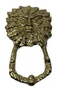 Polished Brass Green Man Door Knocker