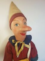 No tin toy Early 900 wood and painted papier maché/fabric PINOCCHIO in mint con.