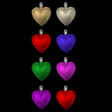 Pack of 8 Multicolour Heart Christmas Tree Bauble Pendant Decorations