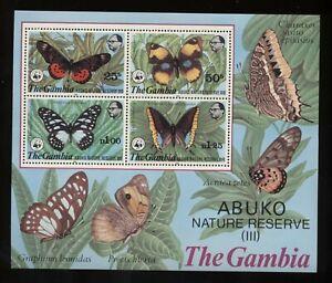 Gambia 1980 Riserva naturale Abuko BF5 nuovo gomma integra T1659