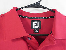 FootJoy mens solid dark red mesh pique golf polo L EUC