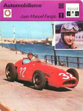 FICHE CARD Juan Manuel Fangio Pilote GP F1 Monaco Belgique Alfa-Romeo 1970s