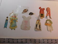 Small paper dolls/ parts lot - vintage + repro advertising dolls and other dolls
