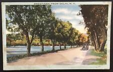 Greetings from Delhi NY 1943 Tichnor Bros Inc Linen