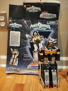 Bandai Power Rangers In Space Deluxe Delta Megazord Complete w/Box, Great Shape!