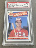 1985 Topps Mark McGwire 1984 USA Baseball Team RC PSA 8 NM-MT