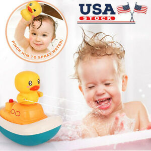 Baby Bath Toys Ekectric Water Spray Rotate Pirate Boat 3Fountain Ducks Kdis Gift