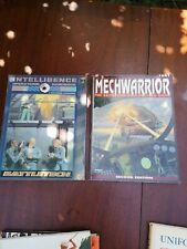 Battletech, Mechwarrior role playing game 2nd ed + intelligence operations Handk