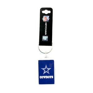 """Dallas Cowboys Acrylic Keychain KeyRing Double Sided w/Logo 1.5"""" x 2.5"""""""