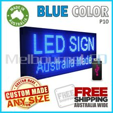 77''x20'' Blue INDOOR WINDOW LED SIGN  Digital Programmable Message Board