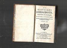 Les histoires d'Hérodote traduites en françois par Mr Du Ryer Tome III 1713 E28