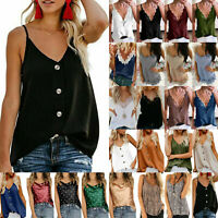 Plus Size Women Lace Sleeveless V Neck Cami Strappy Tank Top Casual Shirt Blouse