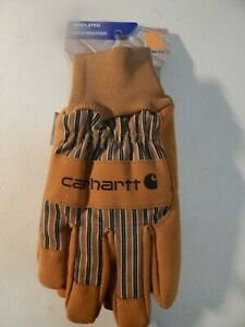 BRAND NEW MEN'S BROWN LARGE CARHARTT COLD WEATHER INSULATED GLOVES