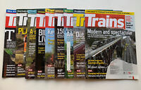 """Trains """"The Magazine of Railroading""""  Lot Of 9 Issues from Year 2019 Feb-Dec"""