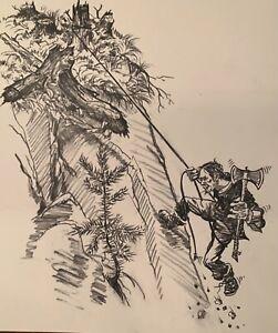 Forrest Fenn Original Illustration from his Memoir too far to walk