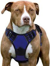 New listing Eagloo Dog Harness No Pull, Walking Pet 2 Metal Rings and Handle Xlarge Blue Nip
