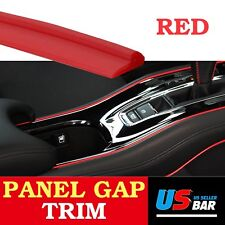 120inch Garnish Molding Gap Strip Trim Line Red For Car Accessory Interior Edge