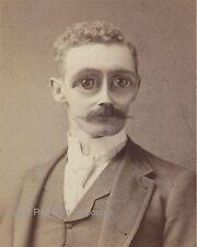 Victorian Oddity Man Art Print 8 x 10 - Altered Art - Bug Eyed - Surreal Alien