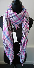 Anne Fontaine NWT Colorful Large Plaid Scarf Shawl Ivy C Show Retail $195