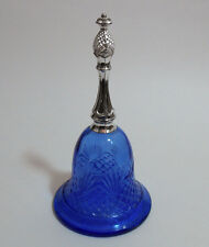 Vintage Avon 1976 Cobalt Blue Glass Perfume Bottle Bell w/ Pineapple Finial