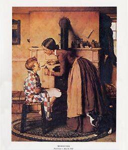 Norman Rockwell Sick Boy Print MEDICINE