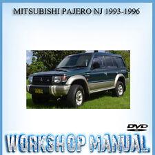 MITSUBISHI PAJERO NJ 1993-1996 WORKSHOP REPAIR SERVICE MANUAL IN DISC