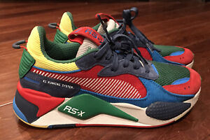 Puma 374445 01 Mens RX-S Market Green Red Blue Yellow Athletic Casual Shoes Sz 9