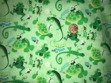 Fabric Traditions Gecko, Turtle, Frog Quilt, Sew, Fabric - 1 1/4 yds