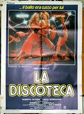 manifesto 2F film LA DISCOTECA Nino D'Angelo Roberta Olivieri 1983 art Sciotti