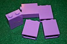 (5) 1x2x2 Medium Lavender Column Brick Bricks ~ Lego ~ NEW