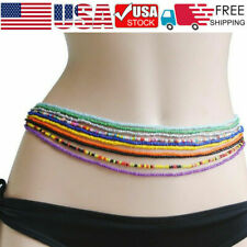 Hot Chain Jewelry Rice Waist Colorful Dance Belly 10pc/Set Beaded Simple