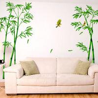 Wandsticker Wandtattoo Wandaufkleber Grüne Bambus Vogel Wohnzimmer Blumenranke