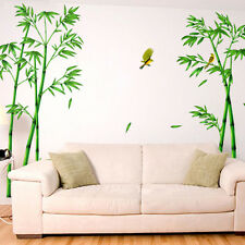 Green Bamboo Leaves Vinyl Art DIY Wall Stickers Removable Decal Mural Home Decor