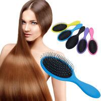 Detangle Hair Brush Salon Hairstyles Comb Wet Dry Scalp Massage Brushes