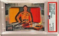 2018 Panini Prime Joey Logano Race Used Dual Fire Suit Signed Auto Card PSA/DNA
