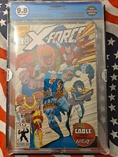 X-Force #8 EGS 9.8 1st app real Domino/ Origin of Cable Not CGC ROB LIEFELD