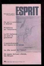 ESPRIT 10.1980 Problèmes de l'Islamisme, Liu Binyan, Gdansk, la DC italienne