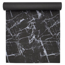 Oak and Reed Black Marbleous Yoga Mat 68 in x 24 in x 4 mm