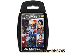 Top Trumps DC SUPERHEROS playing cards game Bat Man, Super Girl, Bane * NEW 💥