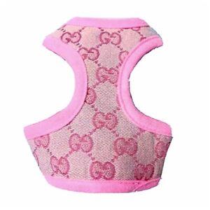 XXXS XXS XS Small Breeds Pink Harness Coat +LEASH Chihuahua Puppy Dog Toy Mini