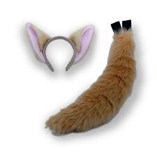 PAWSTAR Fennic Fox Ears and Tail Adult Costume Combo Tan Wild Zoo Cosplay 4956