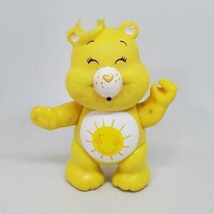 Vintage Care Bears Poseable Figure Funshine Bear 1983 Kenner Yellow Sun Sunshine