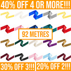 92 Metres - Double Satin Ribbon Rolls - 3mm 6mm 10mm 15mm 25mm Widths <br/> 40% OFF 4+, 30% OFF 3, 20% OFF 2. Mix & Match ANY Items