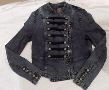 Forever 21 Denim Jacket, Vintage 80's Style, Women's Size L, Laces/Buttons, NWT