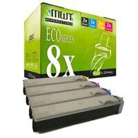 8x MWT Eco Cartuccia Sostituita Kyocera TK-510C TK-510K TK-510M TK-51