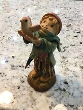 """Vintage Anri Ferrandiz 6"""" Freedom Bound Shepherd Nativity Woodcarving. Free Ship"""