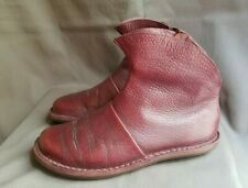 Women's Burgundy Leather TRIPPEN Ankle Zipper Boots Sz-39 EU 7.5 US