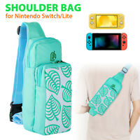 For Nintendo Switch/Lite Animal Crossing Bag Carrying Case Shoulder Pouch Nylon