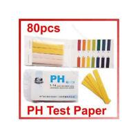 Test de pH 80 BANDES DE PAPIER PH DE 1 À 14 POUR PISCINE OU AQUARIUM TIRAS PH