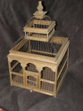 Antique Victorian Birdcage Dome-Shaped Bird Cage Victorian Wood wooden old retro
